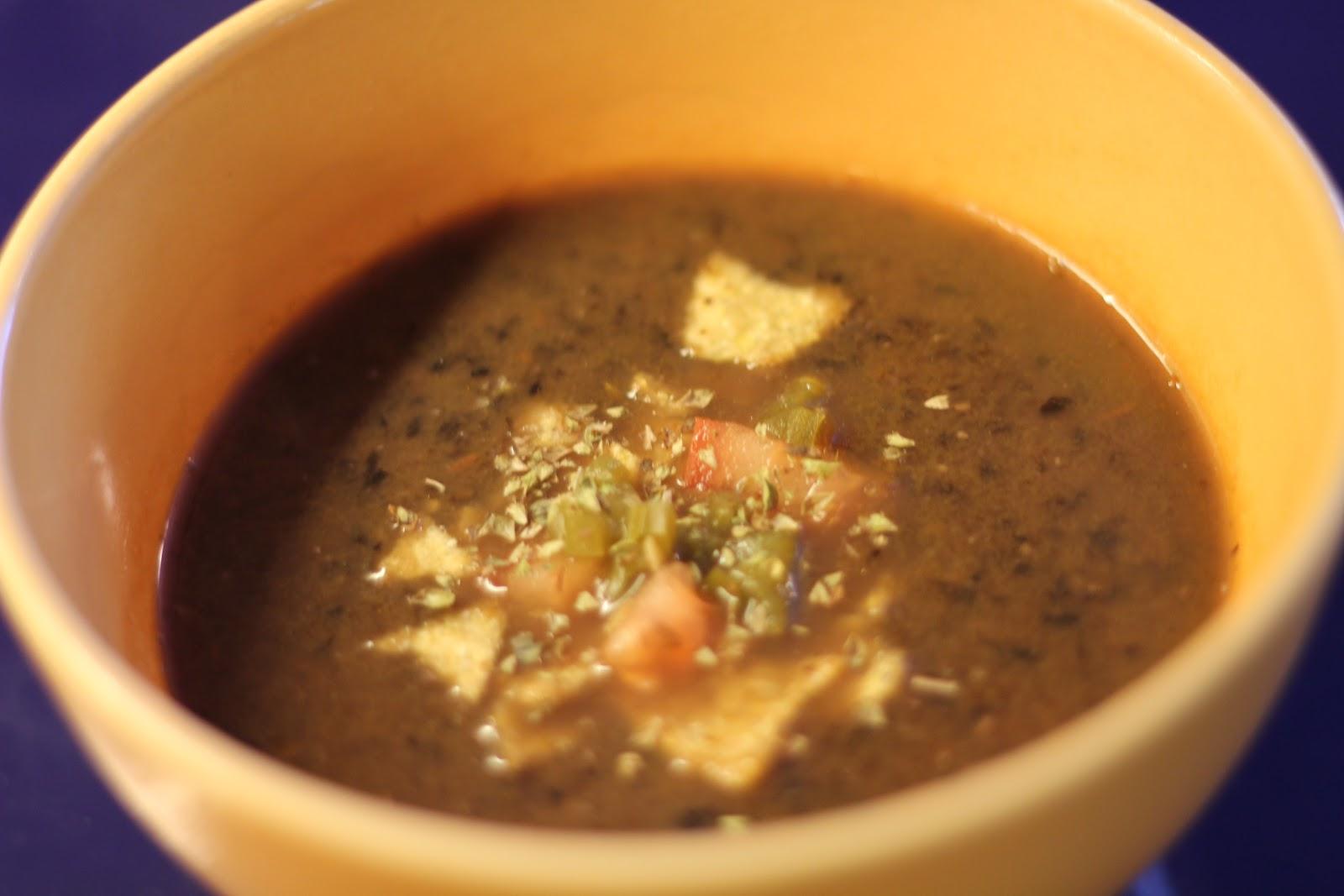 soppa svarta bönor